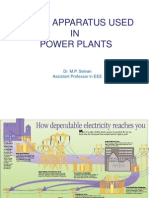 Power Apparatus Used in Power Plants