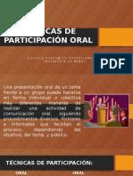Técnicas de Participación Oral