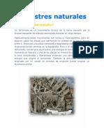 Desastres Naturales Taller