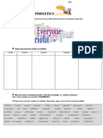 PHONETICS Student Worksheet