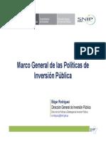 Politica de Inversion Publica- MEF