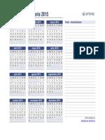 Calendario Anual 2015