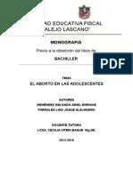 Corregido El Aborto Corregido 2015 Monografia