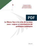 Le Maroc Face a La Crise de La Zone Euro - Enjeux Et Orientations de Politiques Publiques