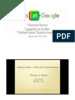 Tom Russo at Google Talks (Slide Deck)