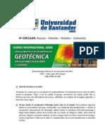 4a CIRCULAR Curso Internacional Modelamiento e Instrumentación Geotécnica