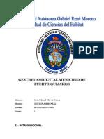 Municipio de Puerto Quijarro Analisis Medio Ambiental