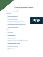 classroom management action plan