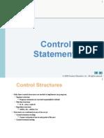 COEN 244 - 4 - Control Statement