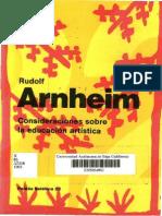 Rudolf Arnheim - Consideraciones sobre la educación artística