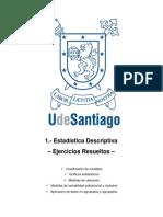 1. Estadistica Descriptiva - Ejercicios Resueltos USACH Análisis estadístico