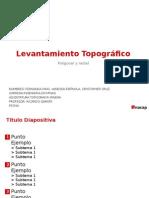 Levantamiento topografico Poligonal y Radial