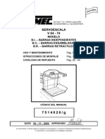 VIMEC (Manual 7514026-G de Mantenimiento de La Silla Salva-escaleras V64-74)