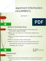 MIS - WUA Lecture Notes 1
