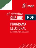 PSOE Programa Electoral 2015