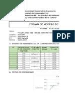 certificado de Modulo de Elasticidad y coeficiente de poisson astm c469