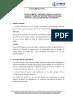 3.0 Memoria General Puente Vehicular Ponaza