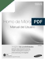 Manual de Usuario Microondas Samsung Cheff Amw83e-Wb_sb_xpe_03427f