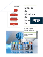 Manual de Técnicas de Laboratorio.