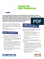 Ramadan and Diabetes MCB DiabetesUK Leaflet