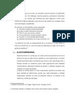 Factores de Exito y Fracaso Empresarial