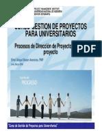 Procesos en La Gerencia de Proyectos