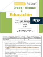 Plan 4to Grado - Bloque 2 Educación Artística