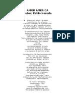 Pablo Neruda - Amor América