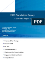 Rexer Analytics 2013 Data Miner Survey Summary Report
