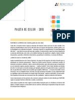 Paleta Color PERUANO 2016 PDF