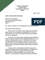 Senator Diane Feinstein June 2, 2014