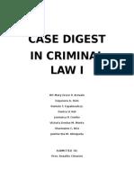 Case Digest in Criminal Law 1