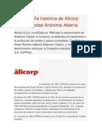 Reseña Histórica de Alicorp Sociedad Anónima Abierta