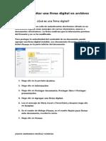 Agregar o Quitar Una Firma Digital en Archivos de Office (1)