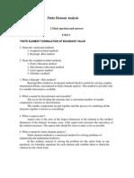 Finite Element Analysis Two Marks