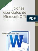 Aplicaciones Esenciales de Microsoft Office