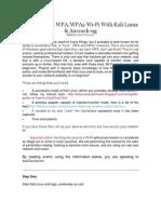 Manual Wpa Kali Linux