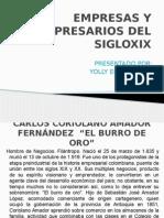 Empresas y Empresarios Del Sigloxix ( Yolly)