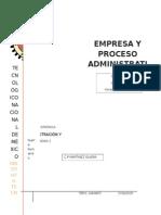 Unidad 2 Empresa Y Proceso Administrativo