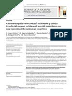 Coriorretinopatia serosa central recidivante y cronica