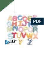 26 Letras en Madera Con Iman Flr MLM O 79530302 6942