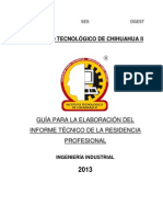 Residencias Ing Ind 2013.1