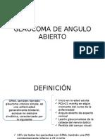 Glaucoma de Angulo Abierto