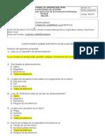 Cuestionario Dispositovos de Almacenamiento