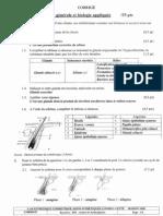 Correction - Science appliqué - CAP Cos