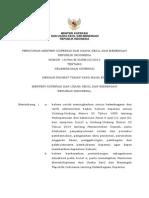 Permen Kukm Nomor 10 Tahun 2015 Tentang Kelembagaan Koperasi