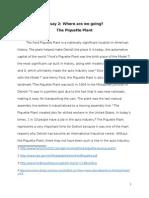 essay 2 the piquette plant