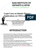 Legal Cases for Islamic Finance