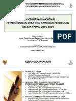 Bappenas - Arah Kebijakan Pembangunan Desa Dan Kawasan Perdesaan Dalam RPJMN 28 April 2015