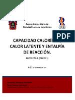 13- Capacidad calorífica, calor latente y entalpía de reacción